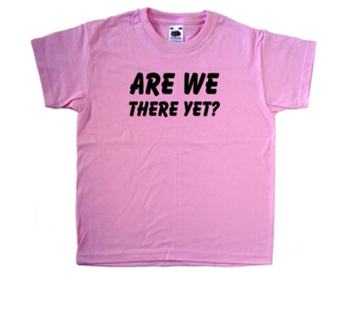 Are We There Yet Pink Kids T-Shirt