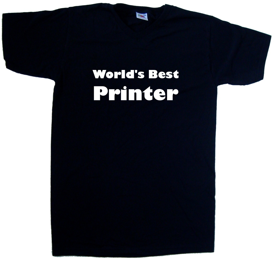 Worlds-Best-Printer-V-Neck-T-Shirt