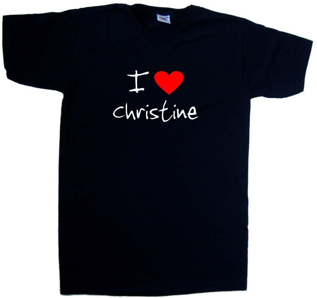I-Love-Heart-Christine-V-Neck-T-Shirt