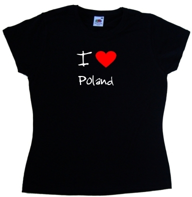 I-Love-Heart-Poland-Ladies-T-Shirt