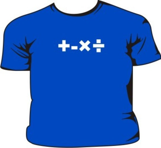 Maths-Signs-Kids-T-Shirt