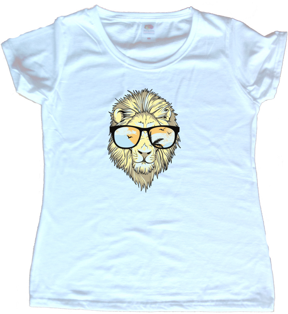 Cool Lion Graphic Ladies T Shirt Ebay