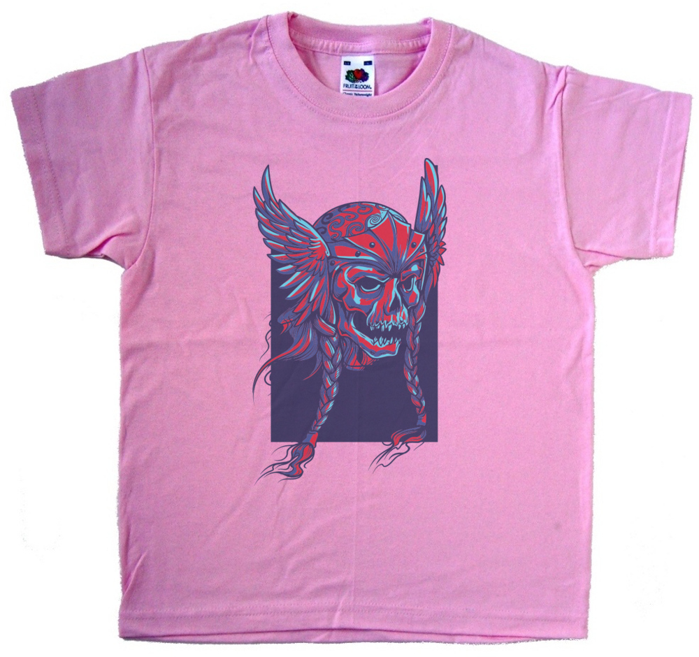 Evil head graphic pink kids t shirt for Graphic design t shirts uk