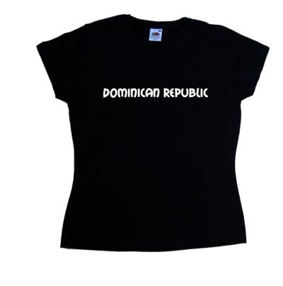 Dominican-Republic-text-Ladies-T-Shirt