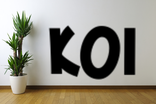 Koi text removable wall art decal ebay for Koi wall decal