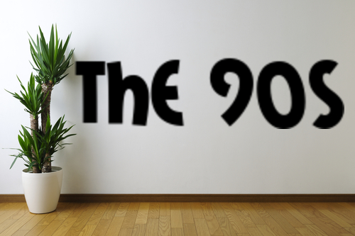 The 90s Text Removable Wall Art Decal