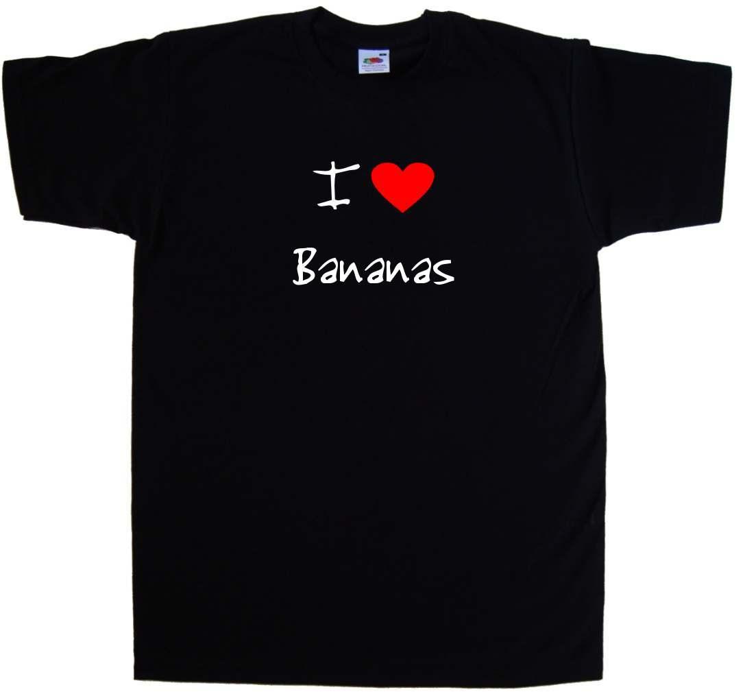 I Love Heart Bananas T-Shirt